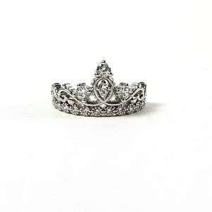 Jewelry - Sterling Silver Crystal Crown Ring